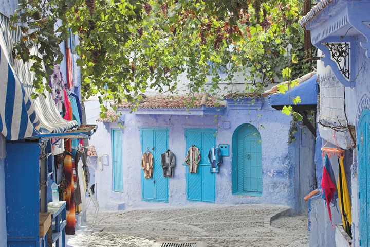 Chauen, the blue color of Morocco