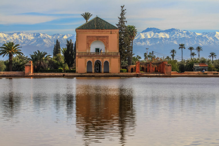 The Menara gardens, an oasis in the middle of Marrakech