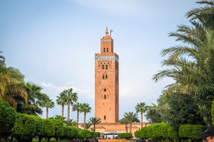 Koutoubia, the twin sister of the Giralda tower in Seville
