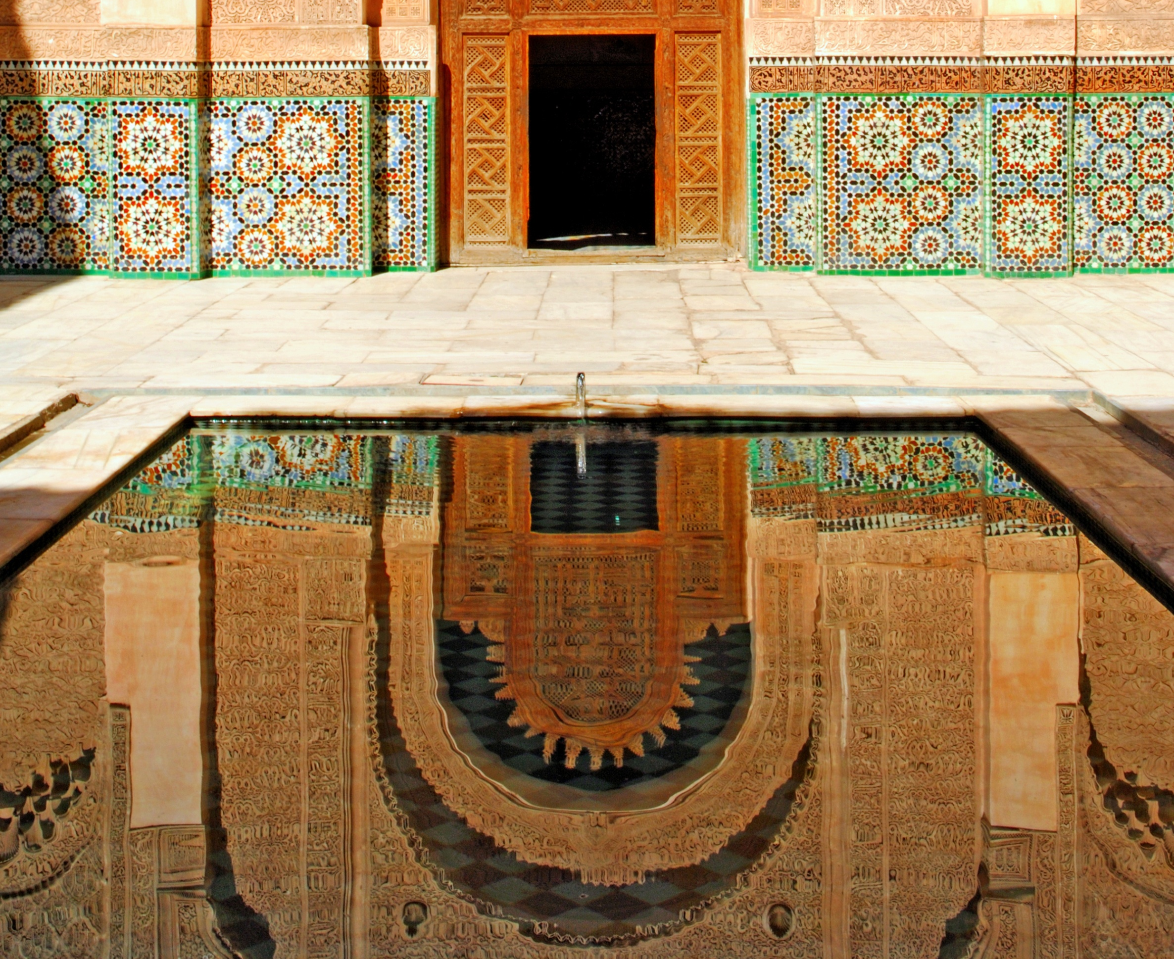 Between mosaics and stucco: The Ben Youssef Madrasa