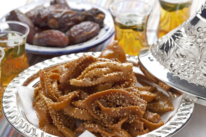 Chebakia, one of the most popular sweets in Morocco