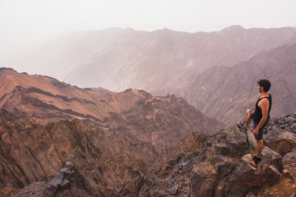My Friend on the Summit of Toubkal's Mountain